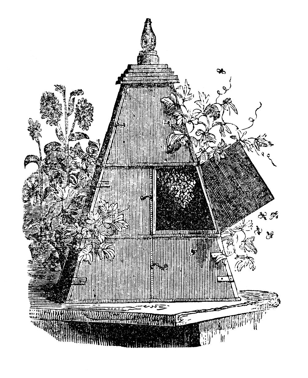 vintage-wooden-beehive-image-graphicsfairy