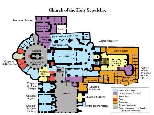 The Church of the Holy Sepulchre, mapped